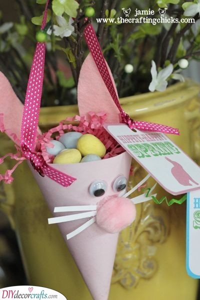 Easter Rabbit Treat Cones - Easter Presents for Kids
