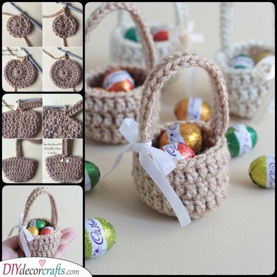 Crochet Baskets - Handmade Easter Gift Ideas for Kids