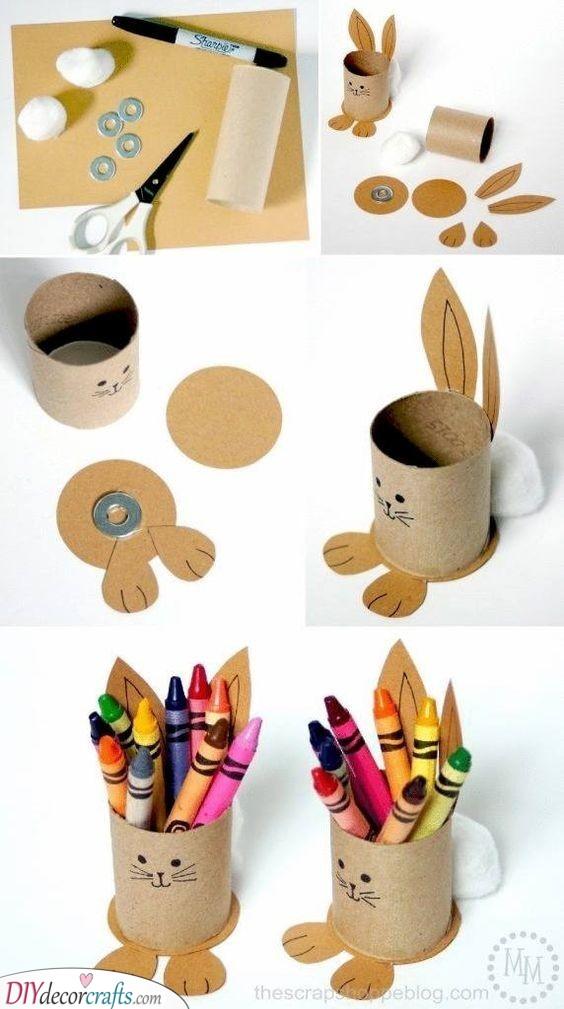 Rabbit Pencil Holder - Simple Easter Presents for Kids