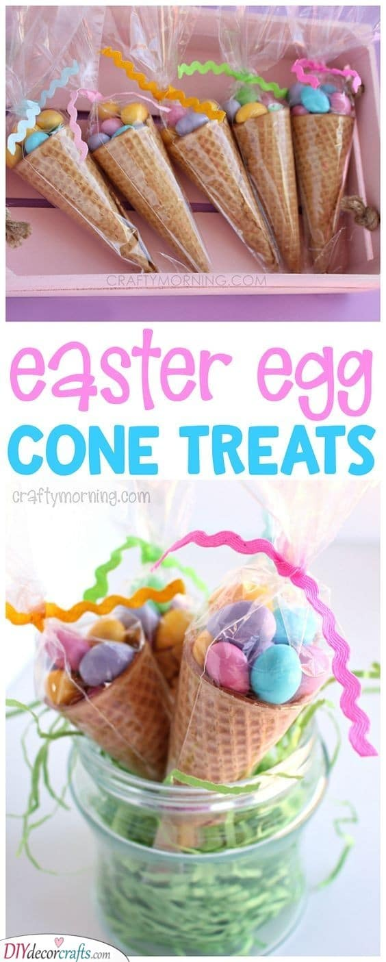 Easter Egg Cones - Perfect Easter Gift Ideas for Kids