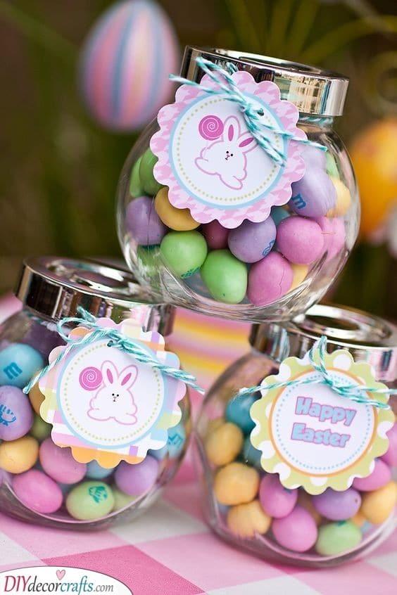 Jars Full of Chocolates - Tasty Easter Gift Ideas for Kids