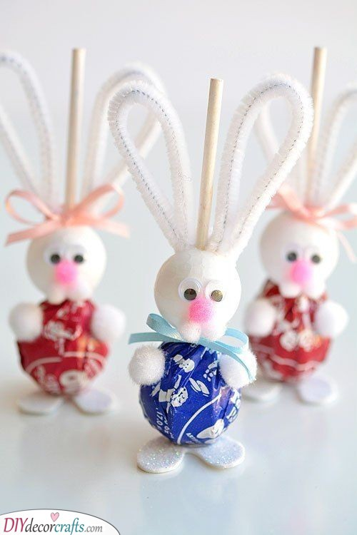 Lollypop Bunnies - Adorable Easter Gift Ideas for Kids