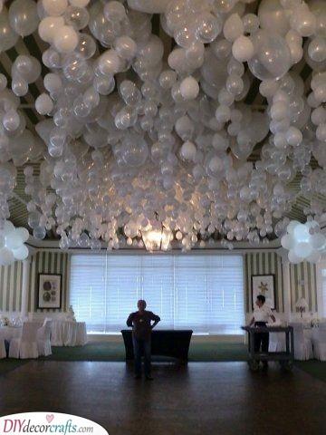 A Bunch of Balloons - Silver Wedding Designs