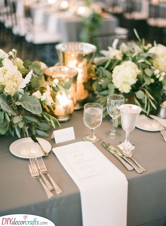 Silver Table Decor - Refined and Sophisticated