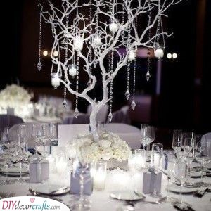 Branches of Beads - Decorative Silver Wedding Ideas