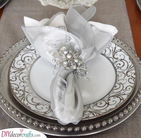 Eat Like a King - Silver Wedding Plating