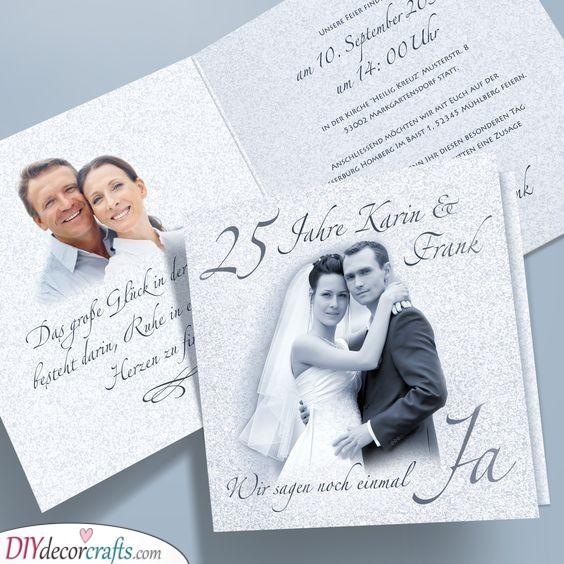 Nostalgic Invitation Cards - Awesome Silver Wedding Ideas