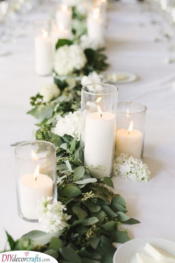 Warm Candles - Lovely Silver Wedding Decorations