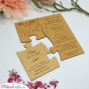 Jigsaws - Creative and Unique Handmade Wedding Invitations