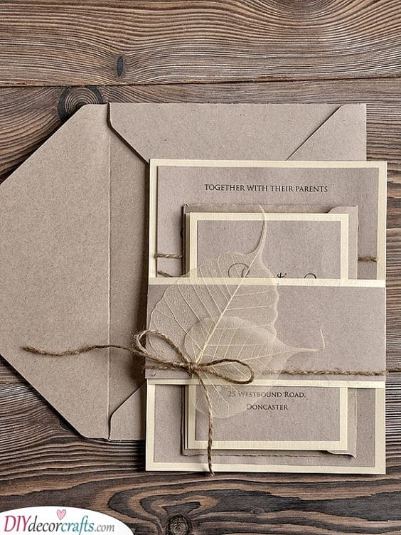 A Rustic Impression on the Invitations - Handmade Wedding Invitations