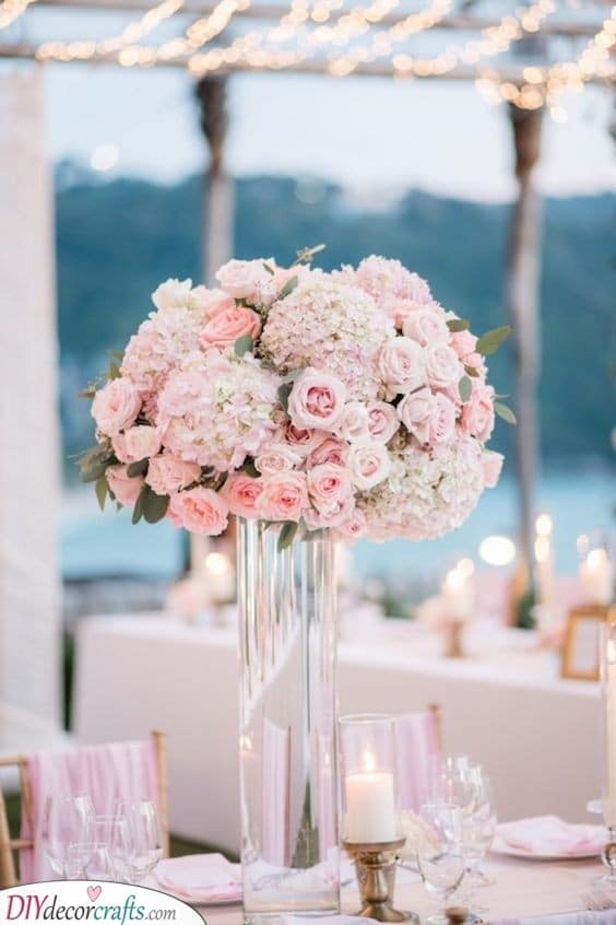 Tall Vases - DIY Table Centerpiece Ideas
