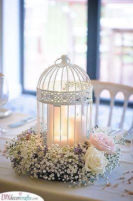 Caged Candles - DIY Wedding Centerpieces