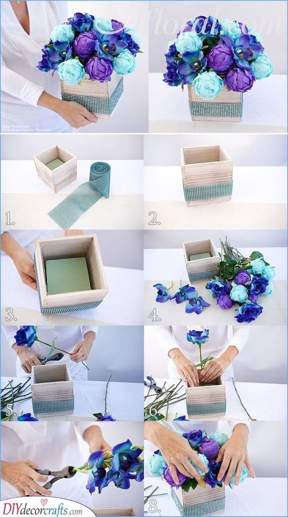 Blue Flowers - Elegant Centerpiece Ideas
