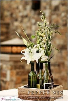Wine Bottles as Vases - Simple Ideas Perfect for Any Wedding