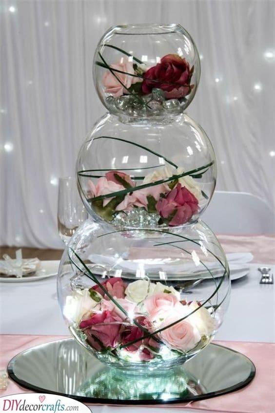 Bowls of Flowers - Stunning DIY Table Centerpiece Ideas