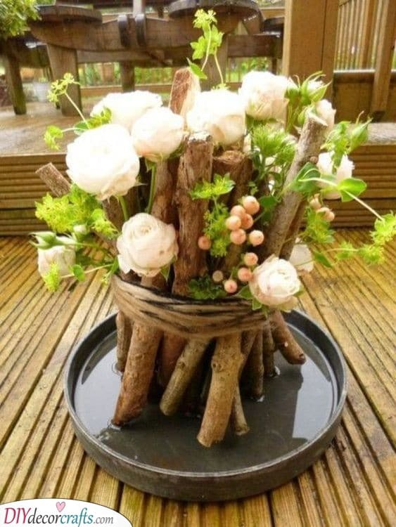 A Bundle of Sticks and Flowers - Mother Nature Itself