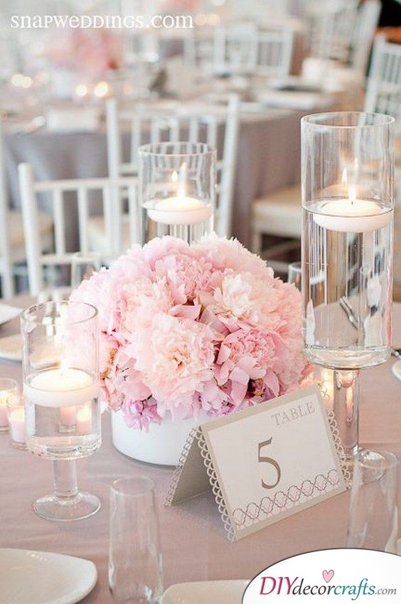 Candles and Pink Flowers - A Dreamy Image