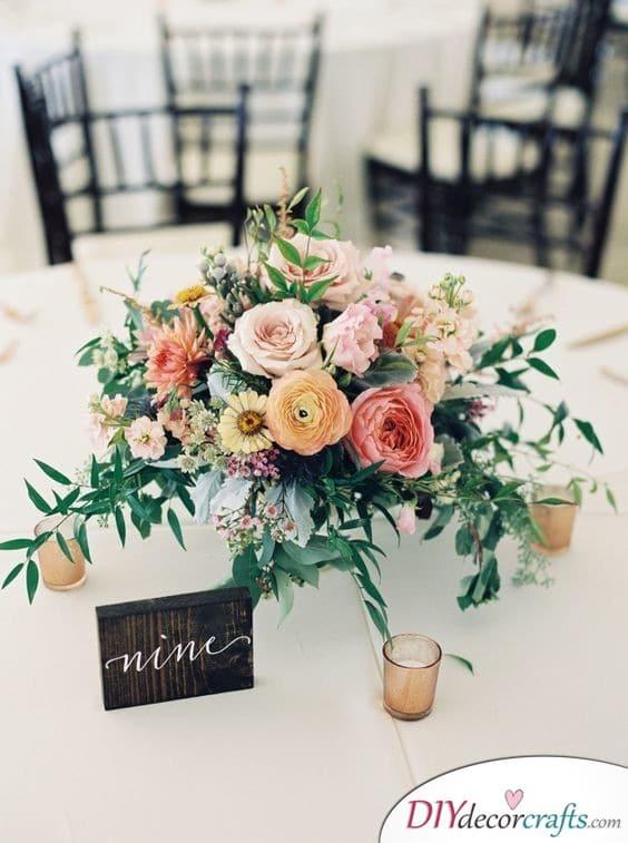 Beautiful Flowers - DIY Wedding Centerpieces