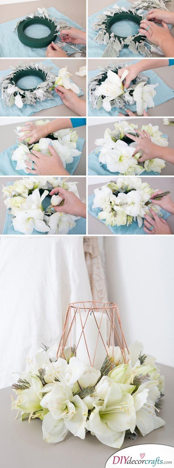 Floral Wreath - Beautiful DIY Table Centerpiece Ideas