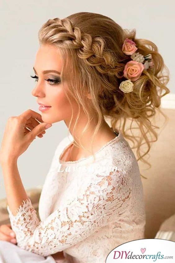 A Unique Bun - Beautiful Bridal Hairstyles for Long Hair