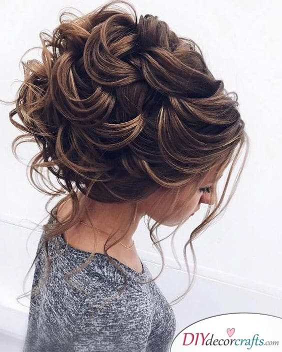 A Layered Updo - A Great Wedding Hairstyle Idea