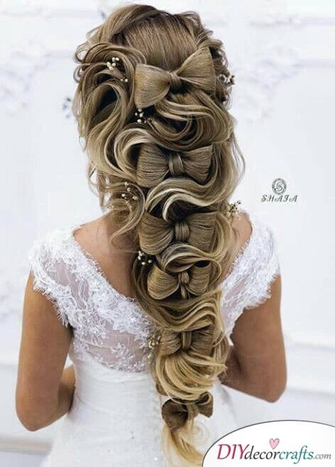 Lovely Bows - Elegant Wedding Hairstyles for Long Hair