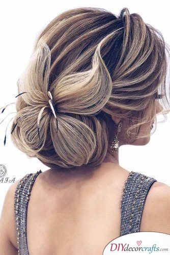 A Unique Bun - Elegant Wedding Hairstyles for Long Hair