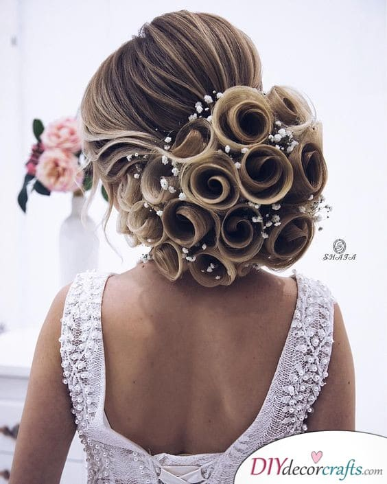 A Rosey Bun - Wedding Updos for Long Hair