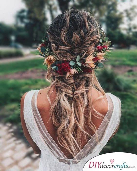Flower Wreath - Natural Wedding Hair Ideas