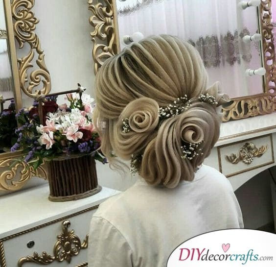An Elegant Updo - Immaculate Wedding Hair Ideas