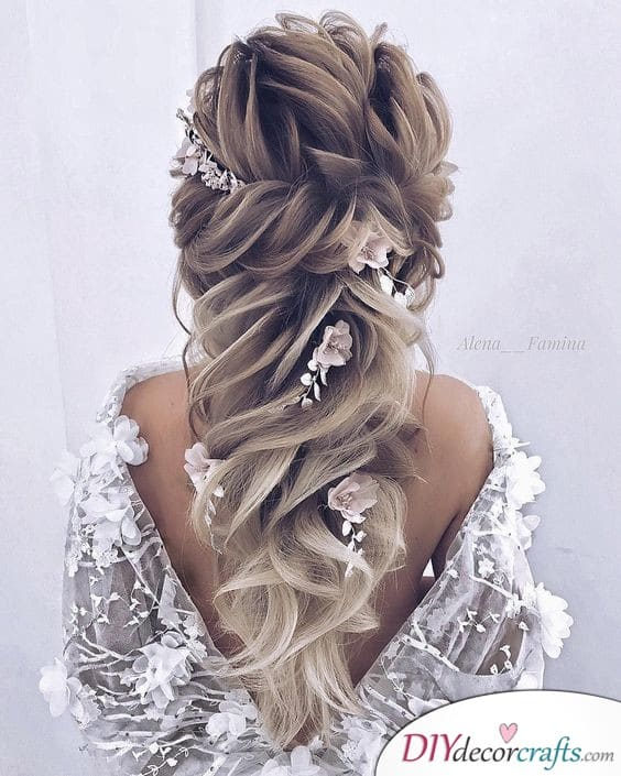 A Heavenly Half Up - Half Up Wedding Hair