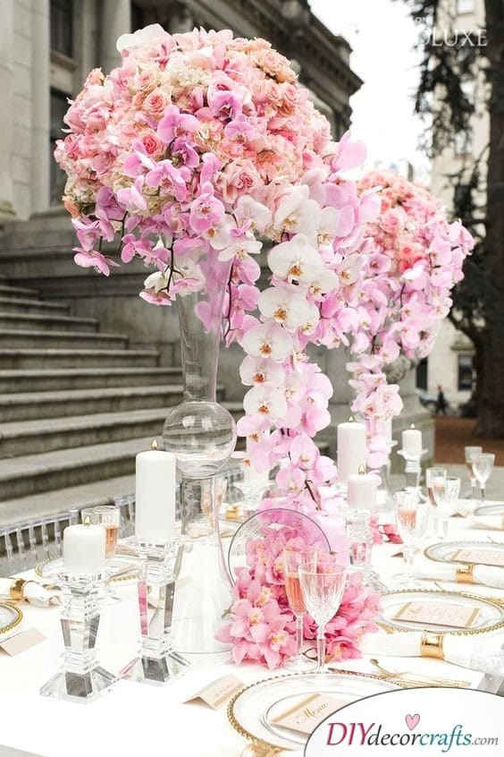 Beautiful Orchids - Wedding Table Flower Decorations