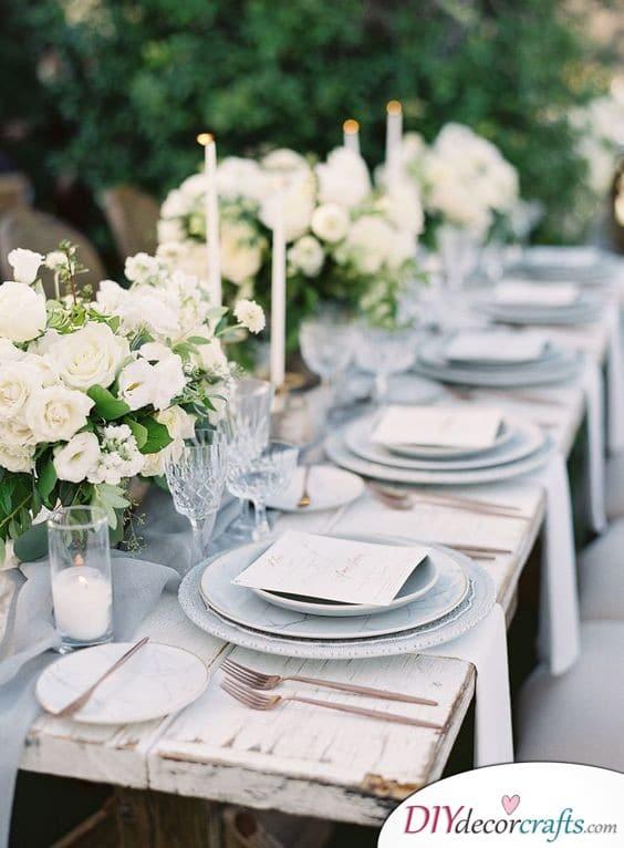Rustic Design - Simple Wedding Table Decorations