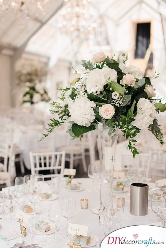 Simple, White and Elegant - Simple Wedding Table Decorations