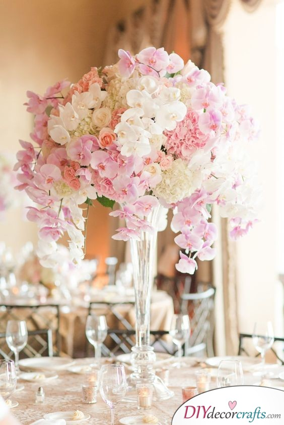 Orchids - Wedding Table Flower Decorations