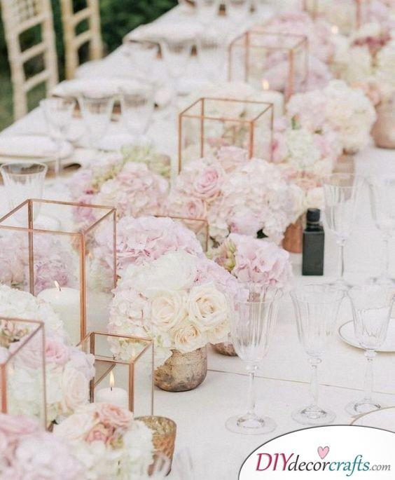 Lanterns - Simple Wedding Table Decorations