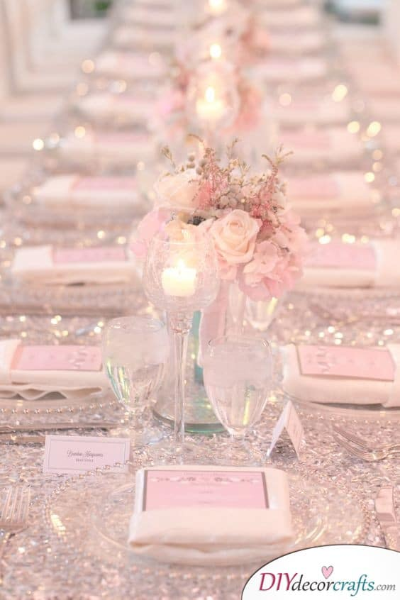 Sparkles and Glitter - Beautiful Wedding Table Decoration Ideas