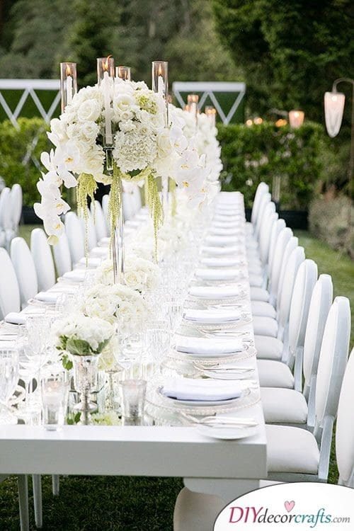 Modern Garden Wedding - Refined Wedding Table Decoration Ideas