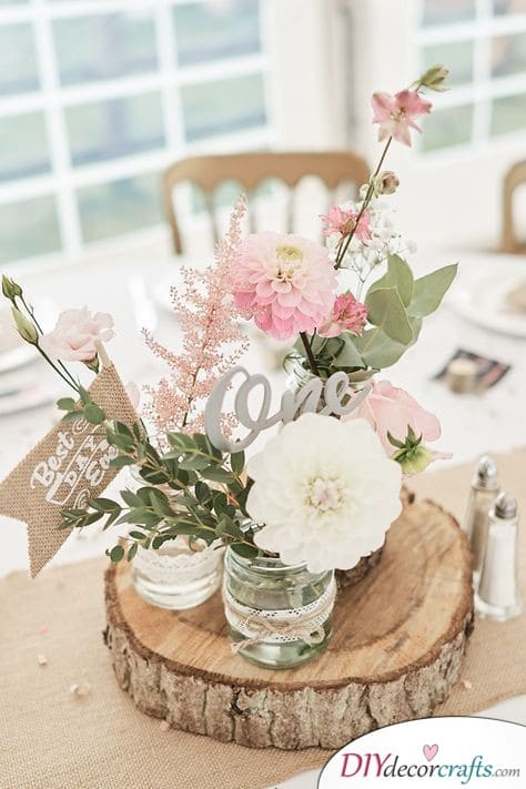 Romantic and Quirky - Simple Wedding Table Decorations