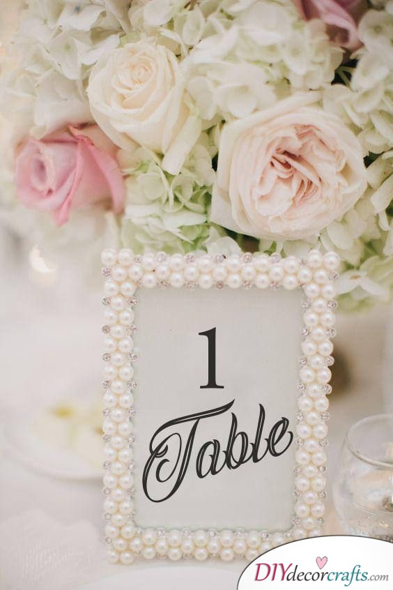 Table Numbers - Simple Wedding Table Decorations