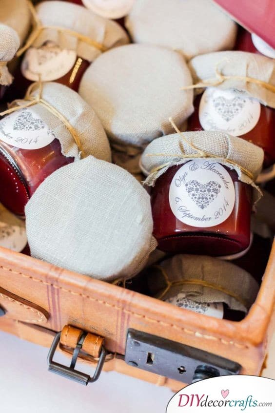 Small Jars of your Favourites - Wedding Gifts for Guests