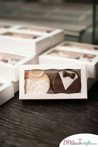 Elegant Bites of Chocolate - Tasty Wedding Thank You Gifts