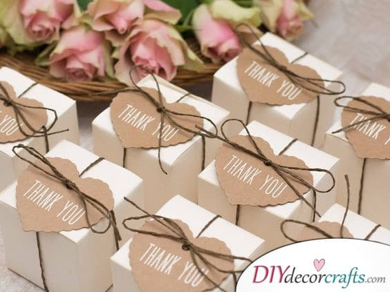 Thank You Gift Boxes - Simple Wedding Gifts for Guests