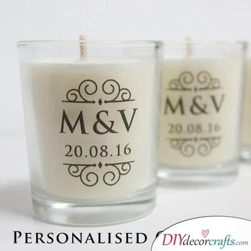Classy Candles - Personalized Wedding Gifts for Guests