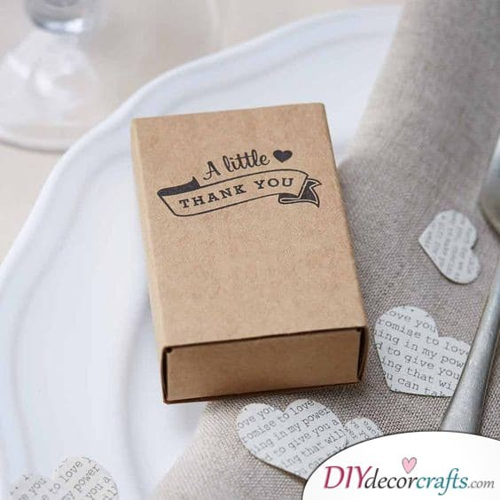 Match Gift Box - Cheap Wedding Gifts for Guests