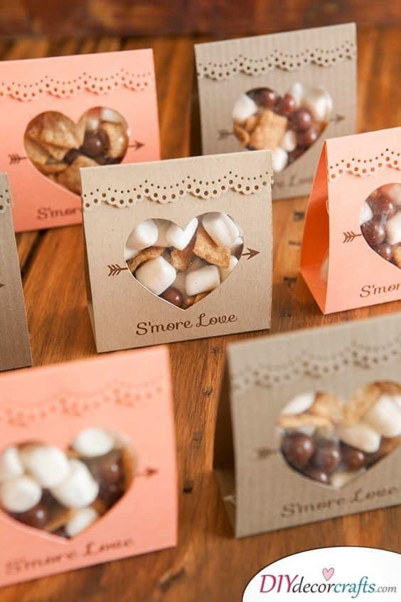 Snacks Wrapped in an Adorable Manner - Wedding Gifts for Guests