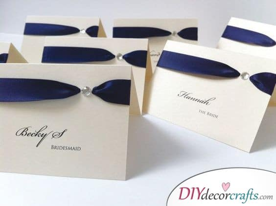An Essence of Elegance - Wedding Name Cards