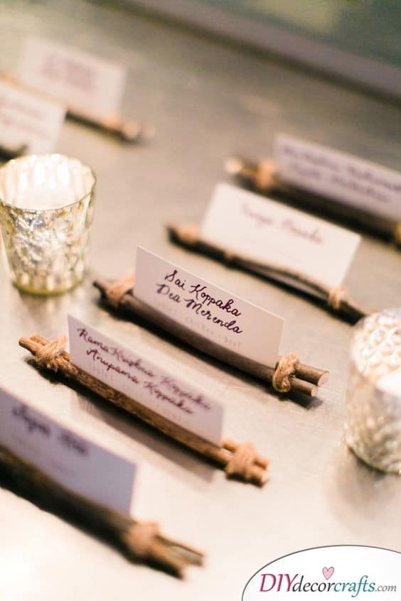 Rustic and Natural - DIY Wedding Place Cards