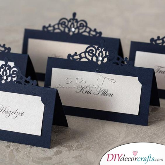 An Elegant Laser Cut - Great DIY Wedding Place Cards