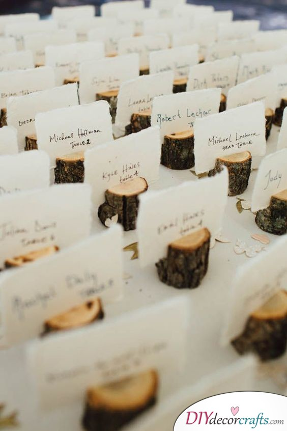 Romance in Nature - DIY Wedding Place Cards